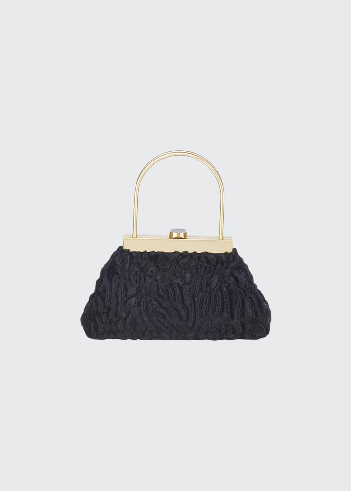Cult Gaia Estelle Mini Ruffle Top Handle Bag