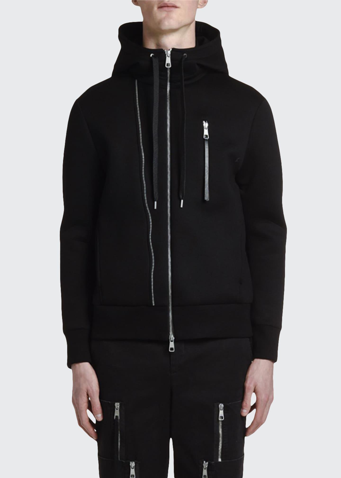 Neil Barrett Men's Multi-Zipper Hoodie