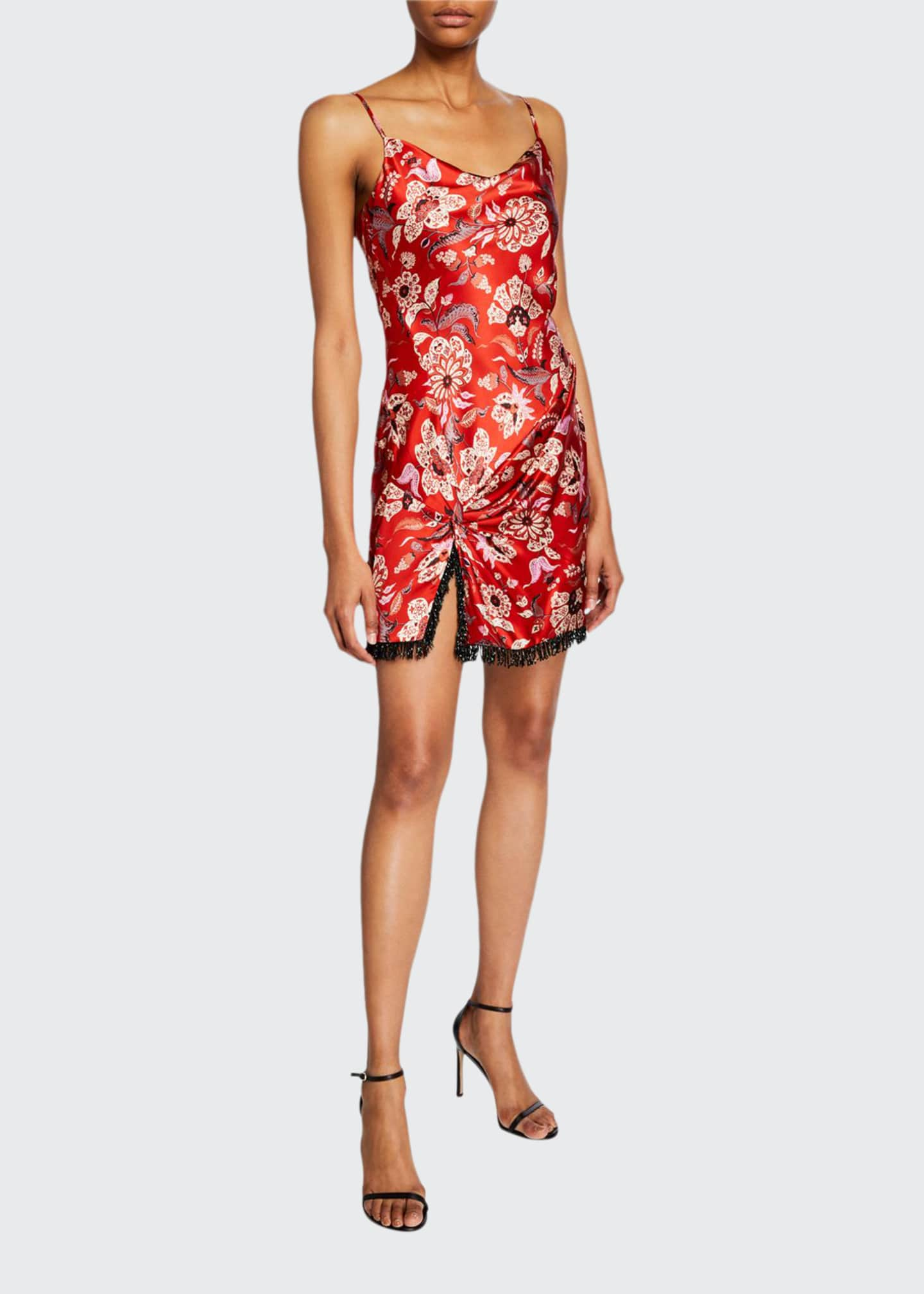 cinq a sept Avalyn Floral-Print Slip Dress