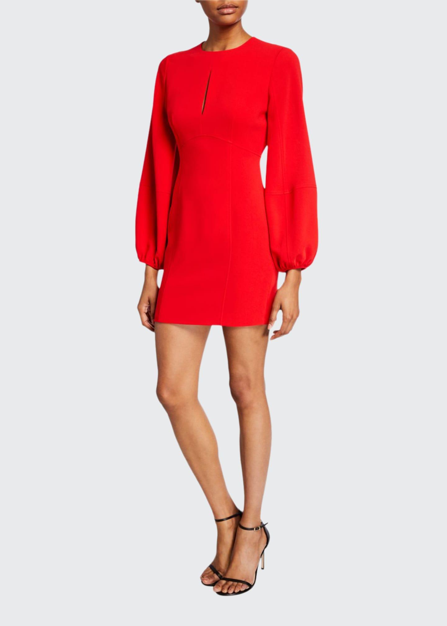 cinq a sept Danica Balloon-Sleeve Mini Dress