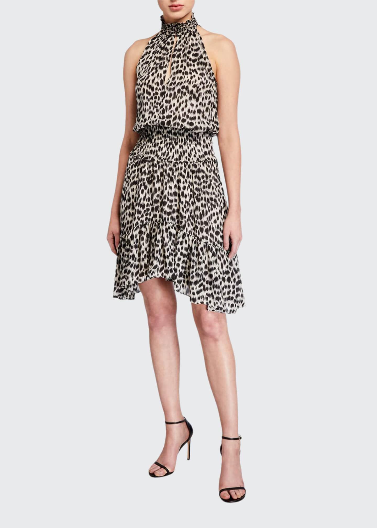 A.L.C. Cody Printed Silk Asymmetrical Dress