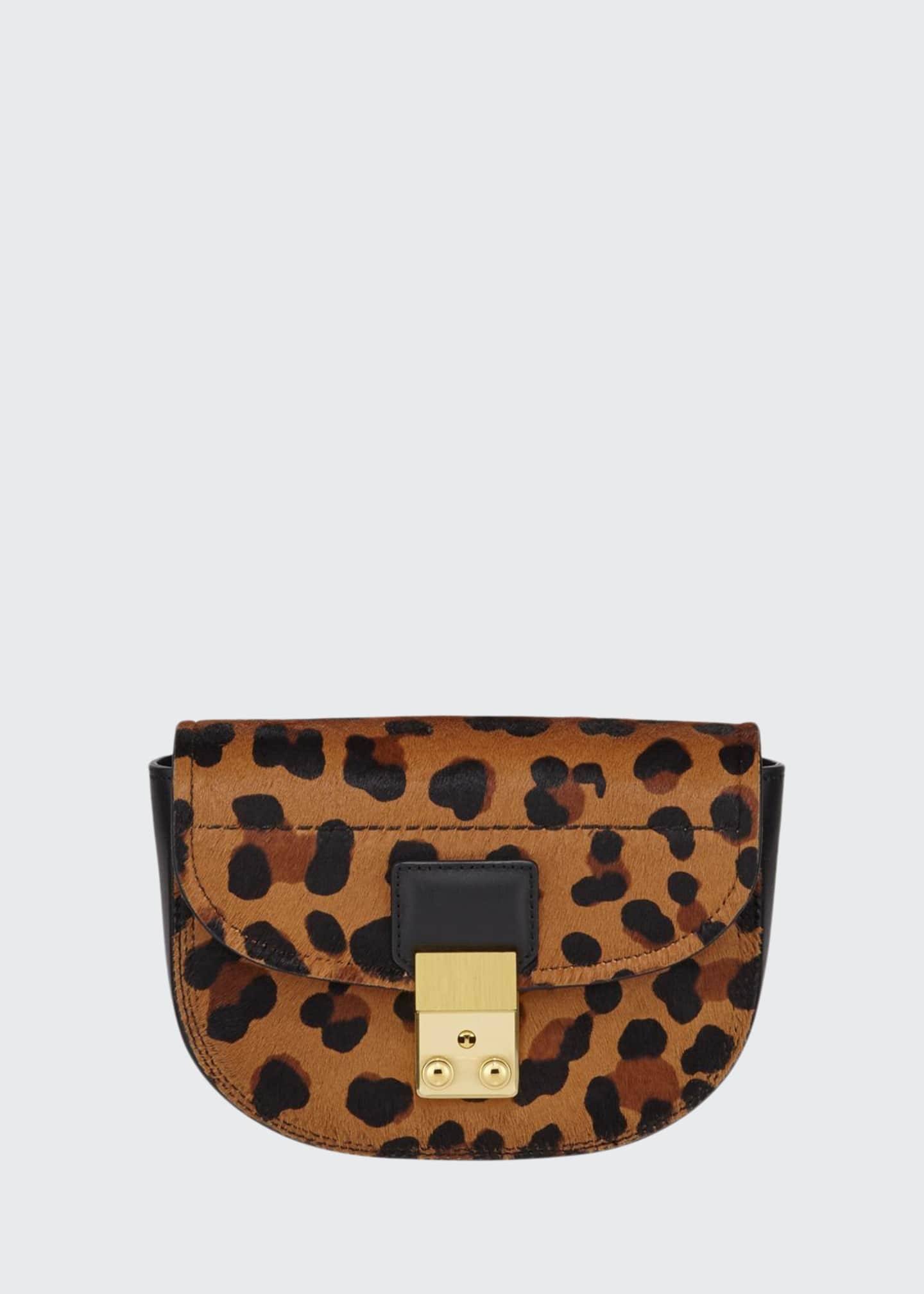 3.1 Phillip Lim Pashli Mini Saddle Leopard Belt