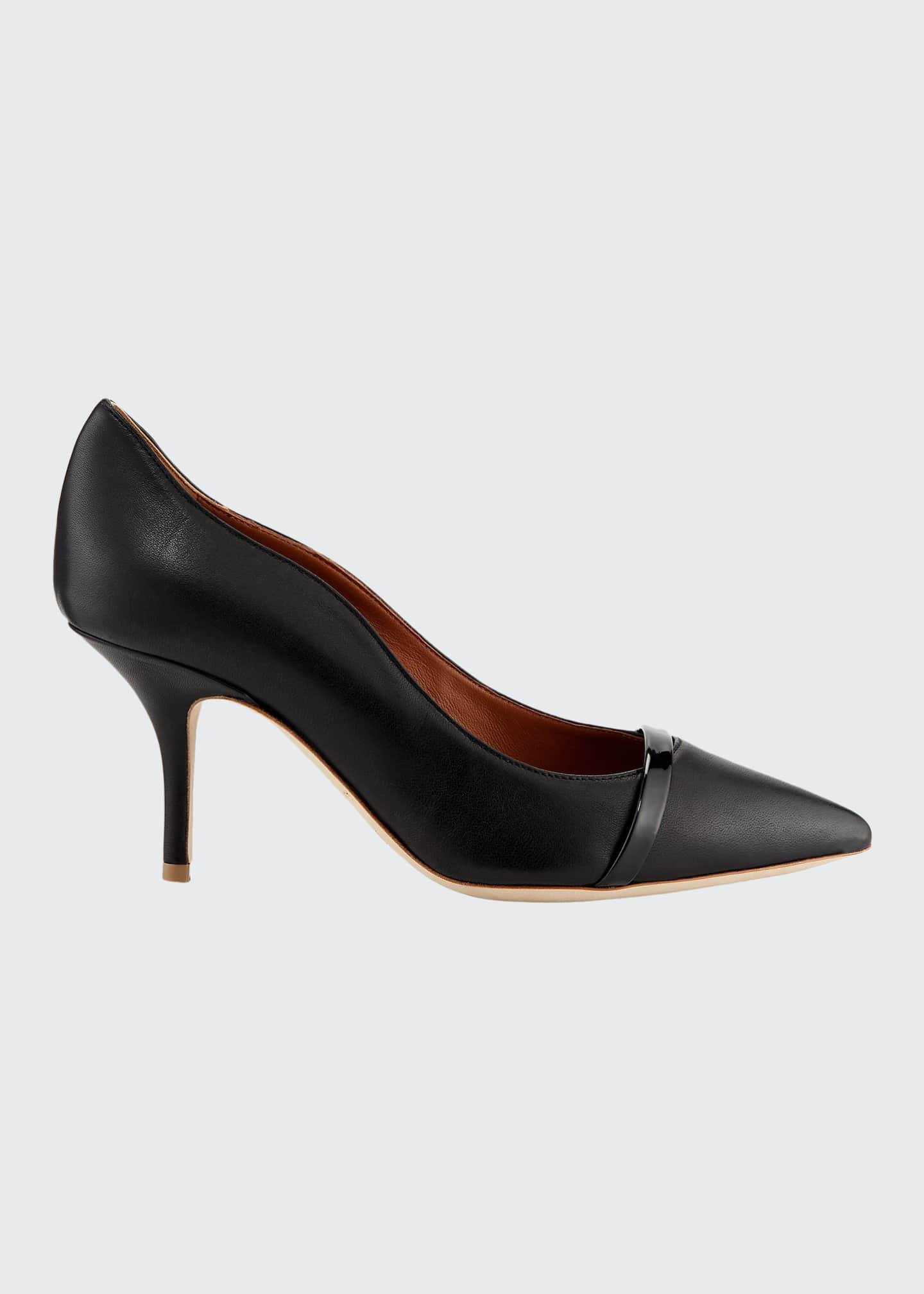 Image 1 of 4: Maybelle 70mm Scalloped Leather Pumps