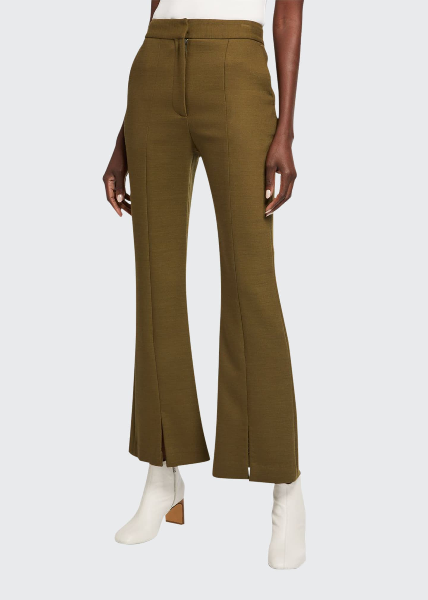 Adam Lippes Double-Face Wool Crop Pants