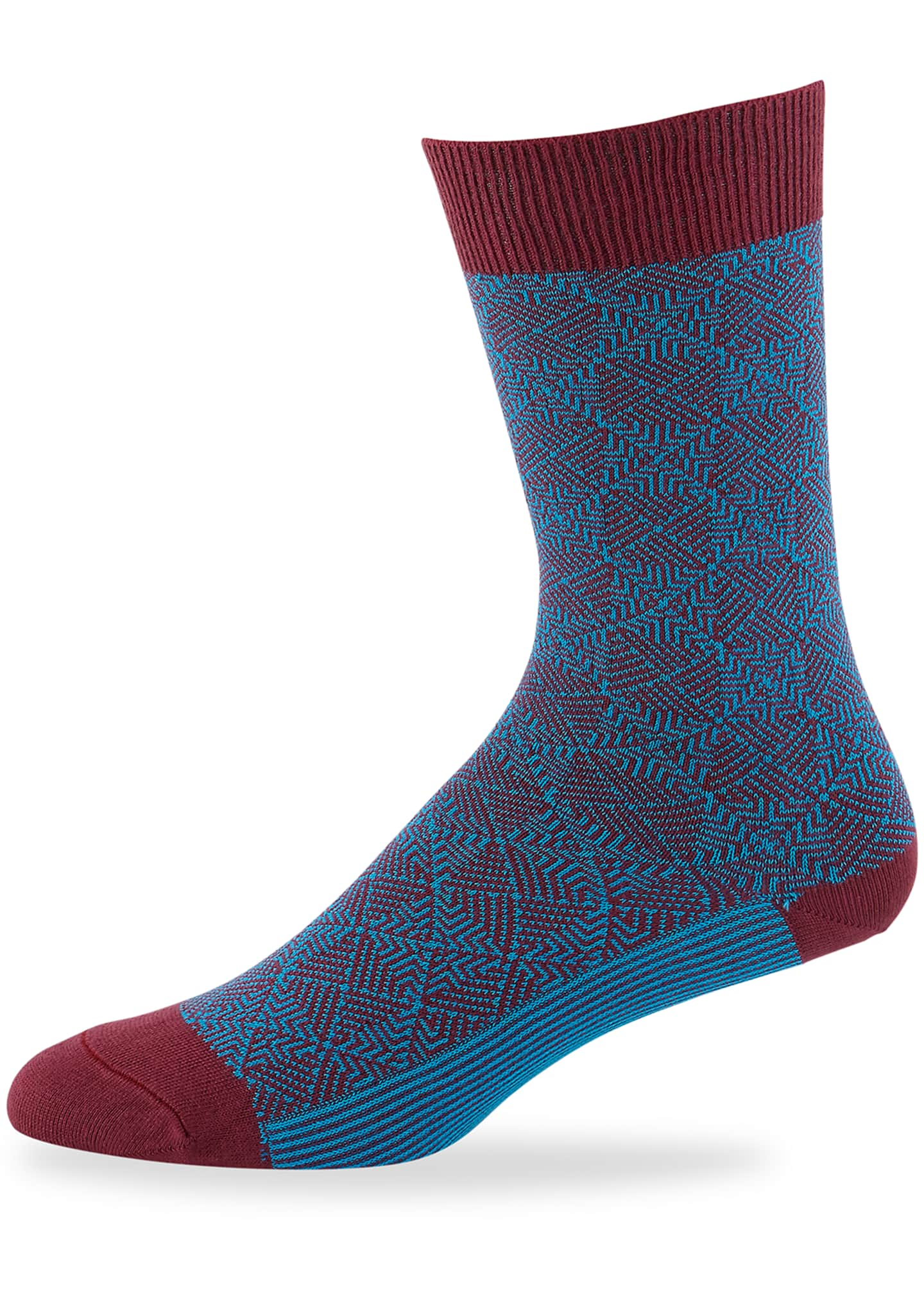 Ace & Everett Men's Hutton Jacquard Knit Socks