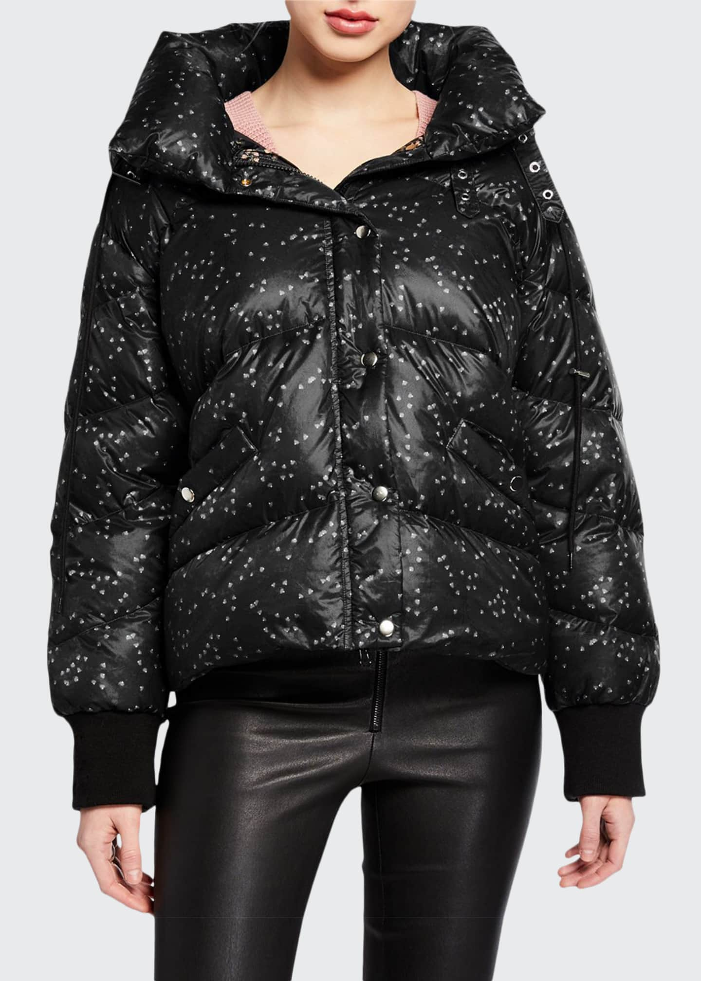 Jonathan Simkhai Hooded Ditsy Floral Puffer Coat