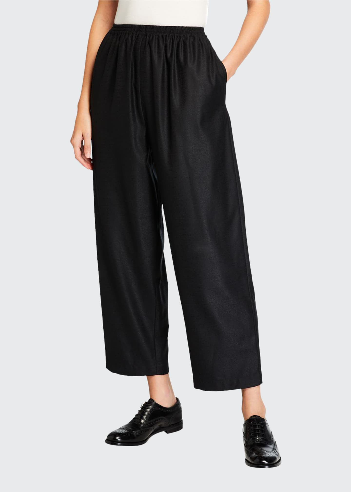 Eskandar Wool-Silk Japanese Trousers