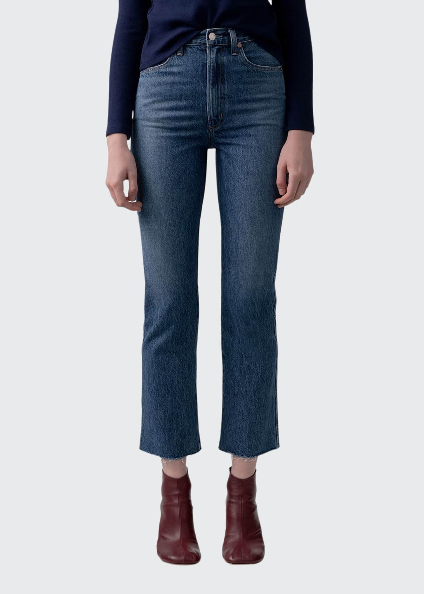 AGOLDE Pinch Waist High-Rise Kick Flare Jeans