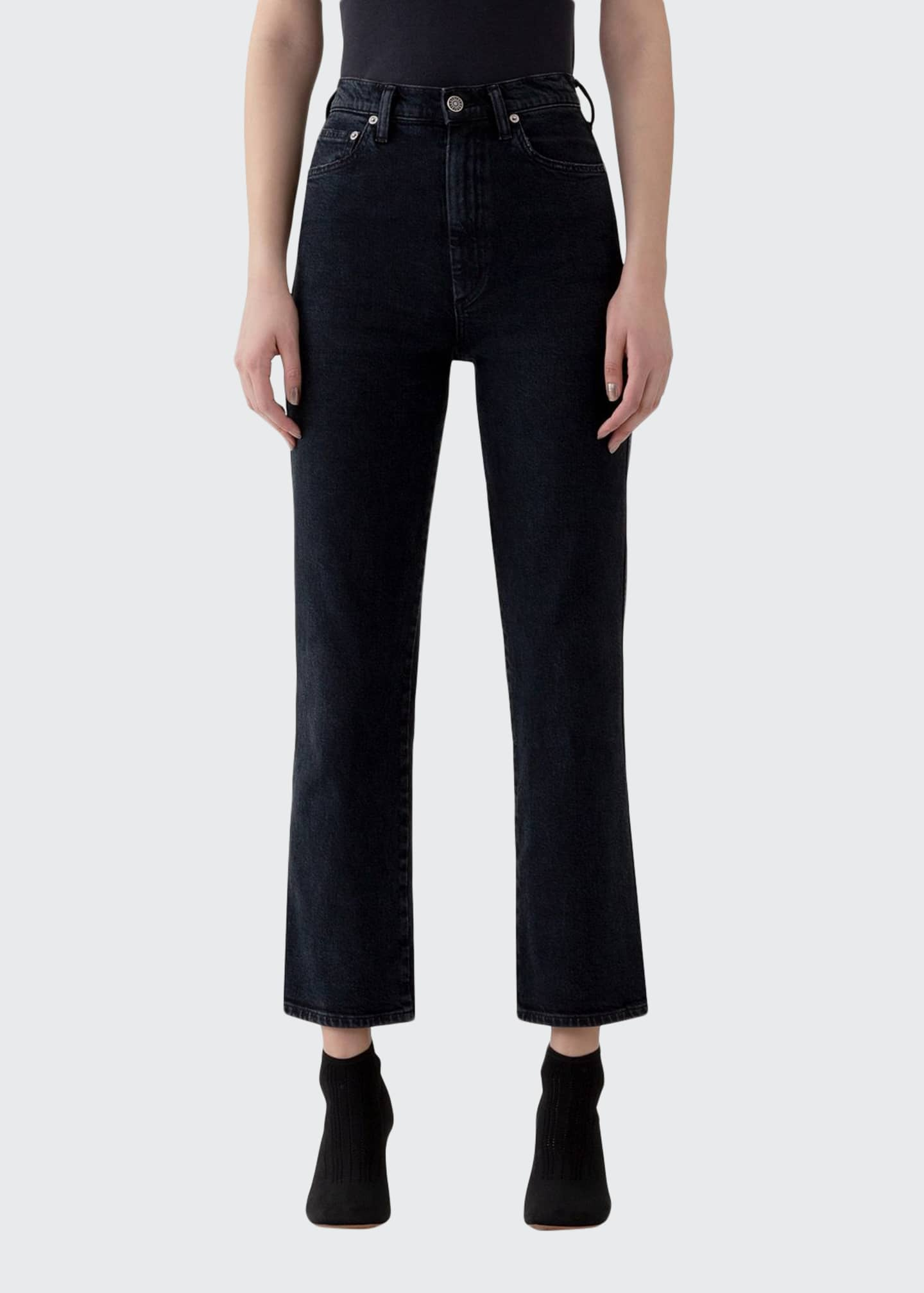 Image 1 of 3: Pinch Waist High-Rise Straight Jeans