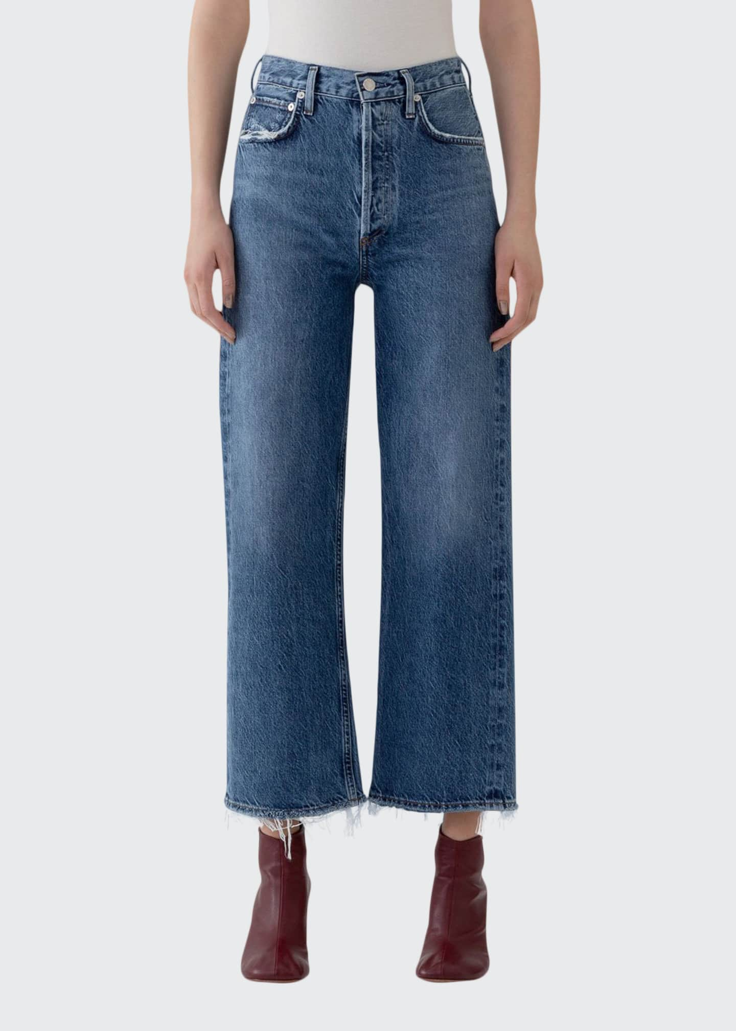 Image 1 of 3: Ren High-Rise Wide-Leg Jeans