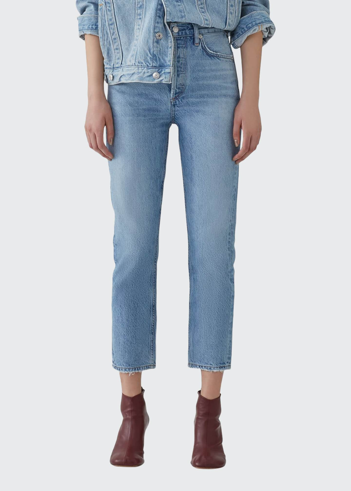 AGOLDE Riley Crop High-Rise Straight Organic Denim Jeans