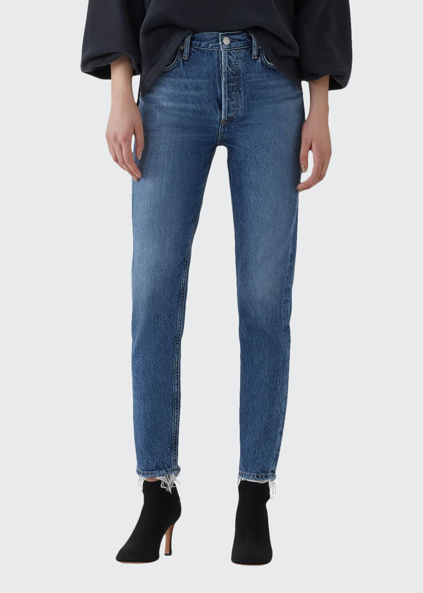 AGOLDE Jamie High-Rise Organic Denim Skinny Jeans with