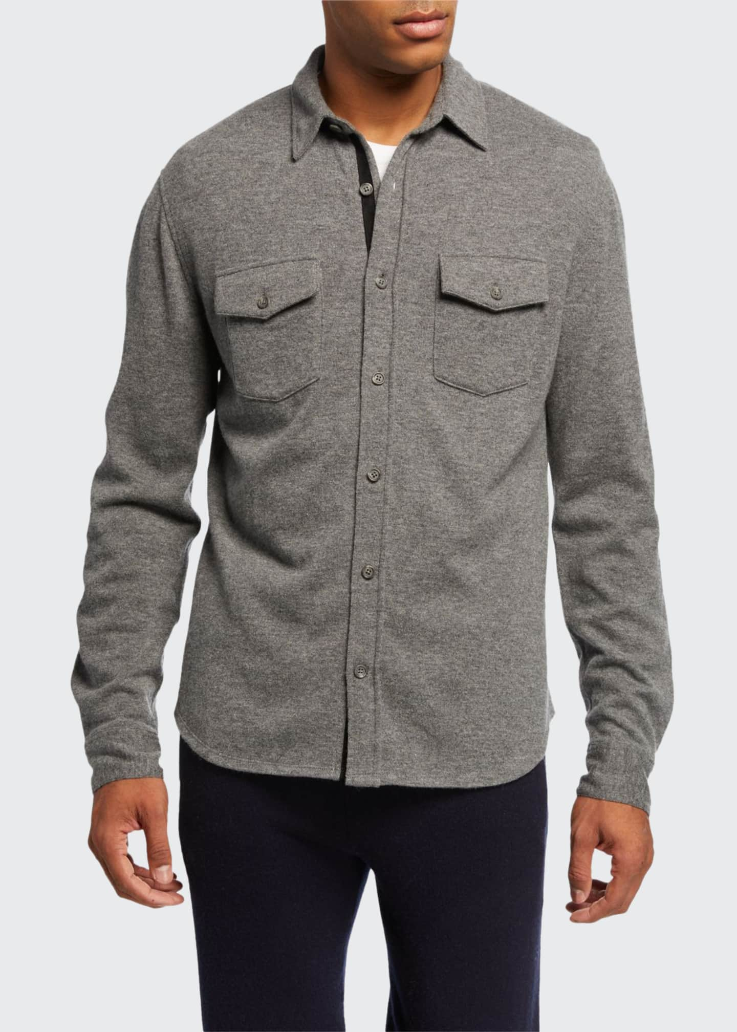 Image 1 of 2: Men's Cashmere Sport Shirt