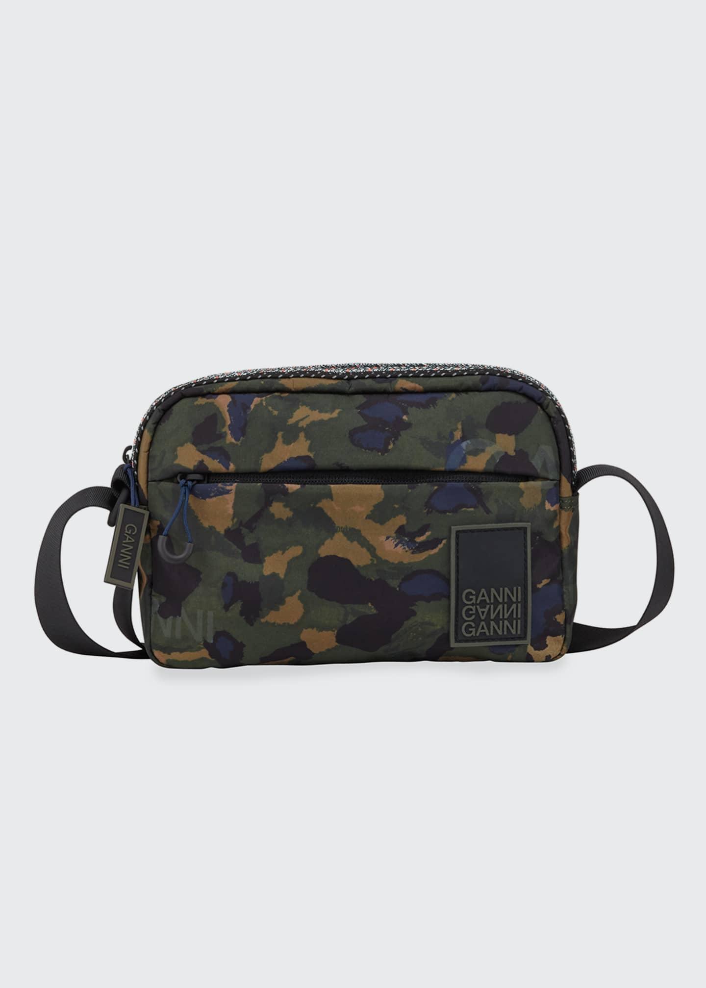 Ganni Nylon Crossbody Camo Bag