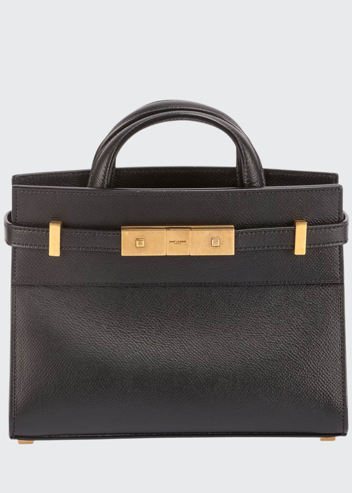 Saint Laurent Manhattan Belted Leather Tote Bag