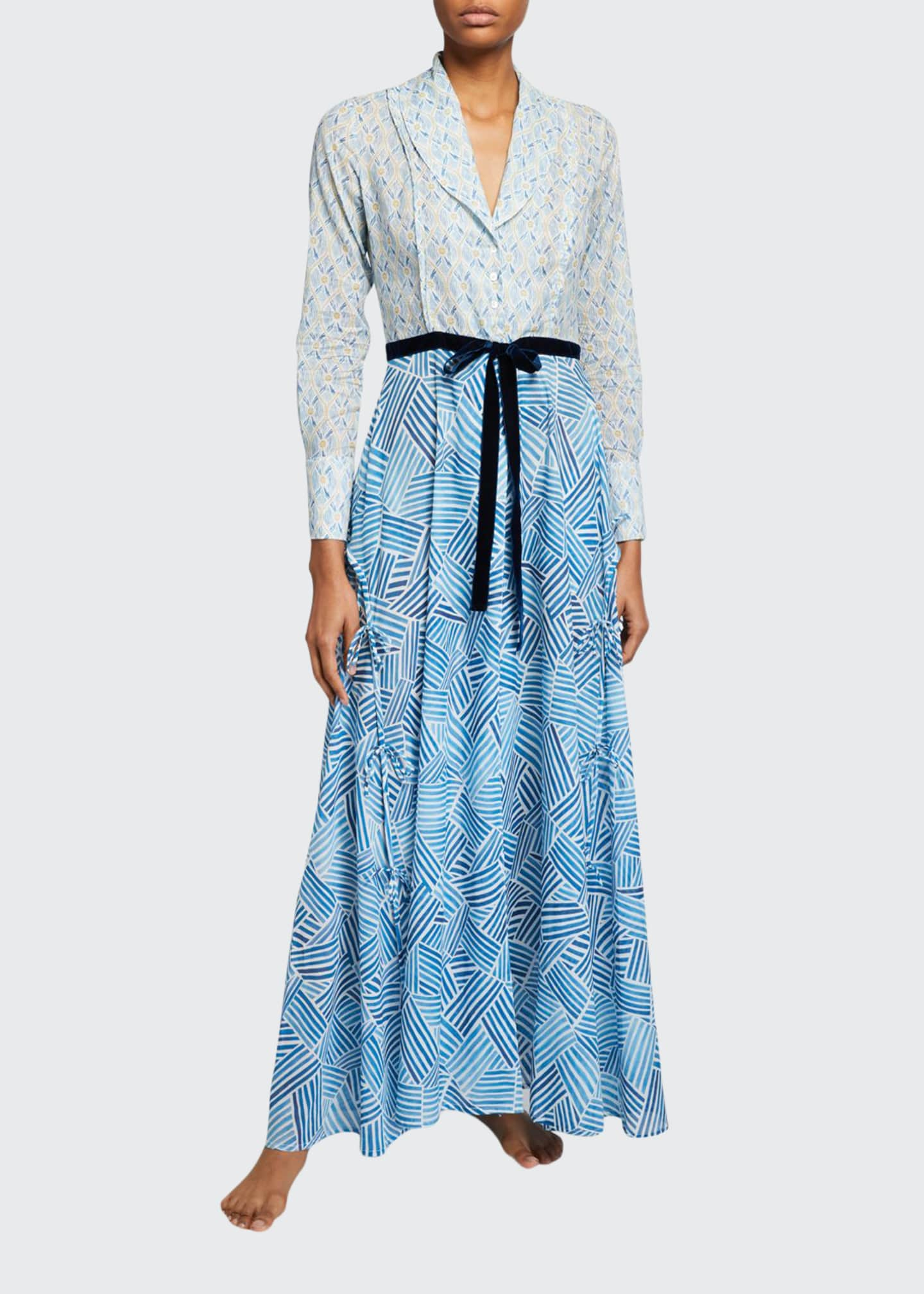 La Costa Del Algodon Hester Graphic-Pattern Long Robe