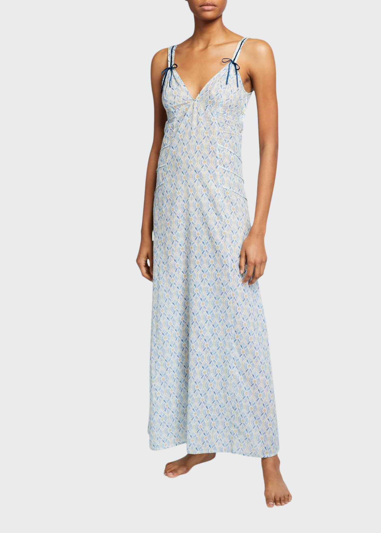La Costa Del Algodon Hester Graphic-Pattern Long Nightgown