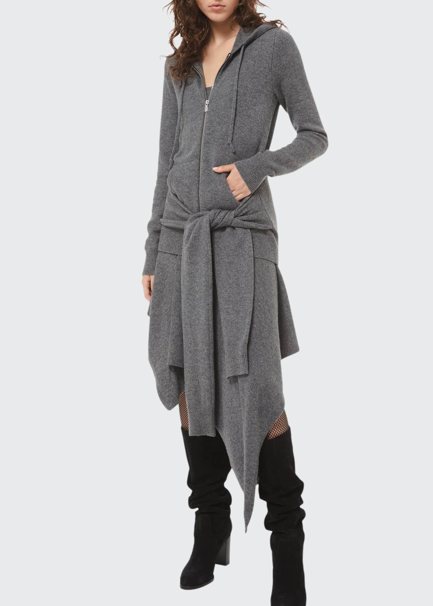 Michael Kors Collection Tie-Waist Zip Hoodie