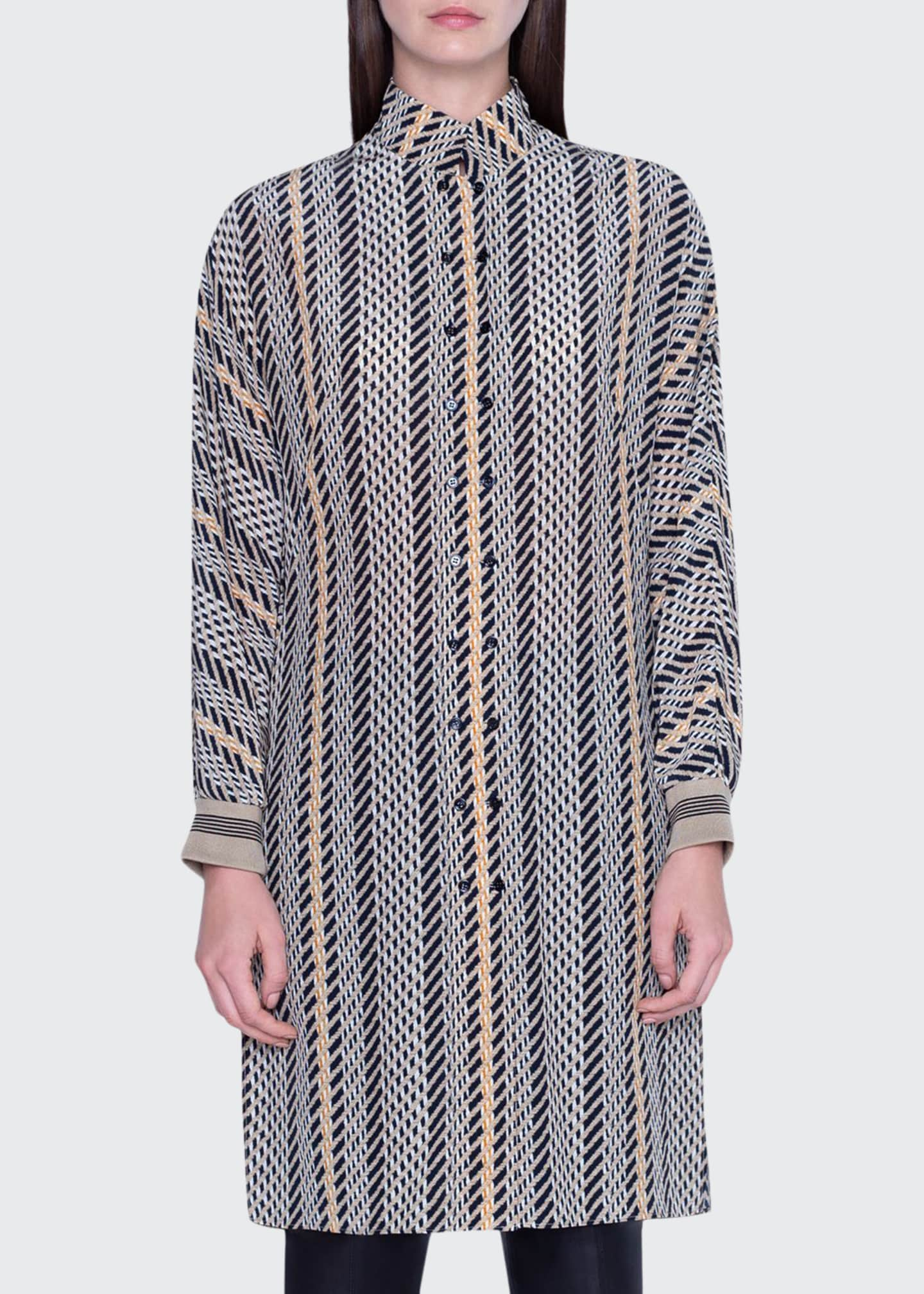 Image 1 of 2: Striped Tunic Dress