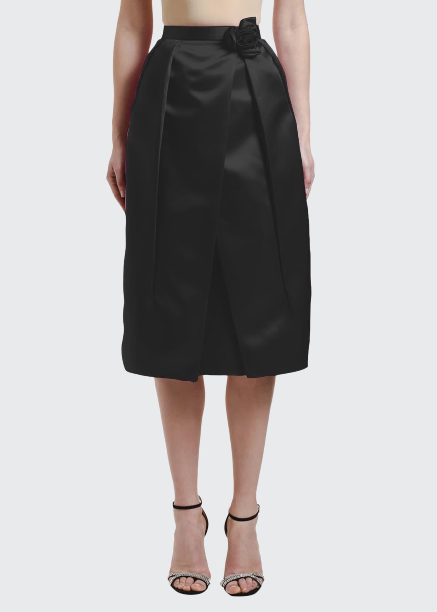 Prada Duchesse Satin Evening Skirt