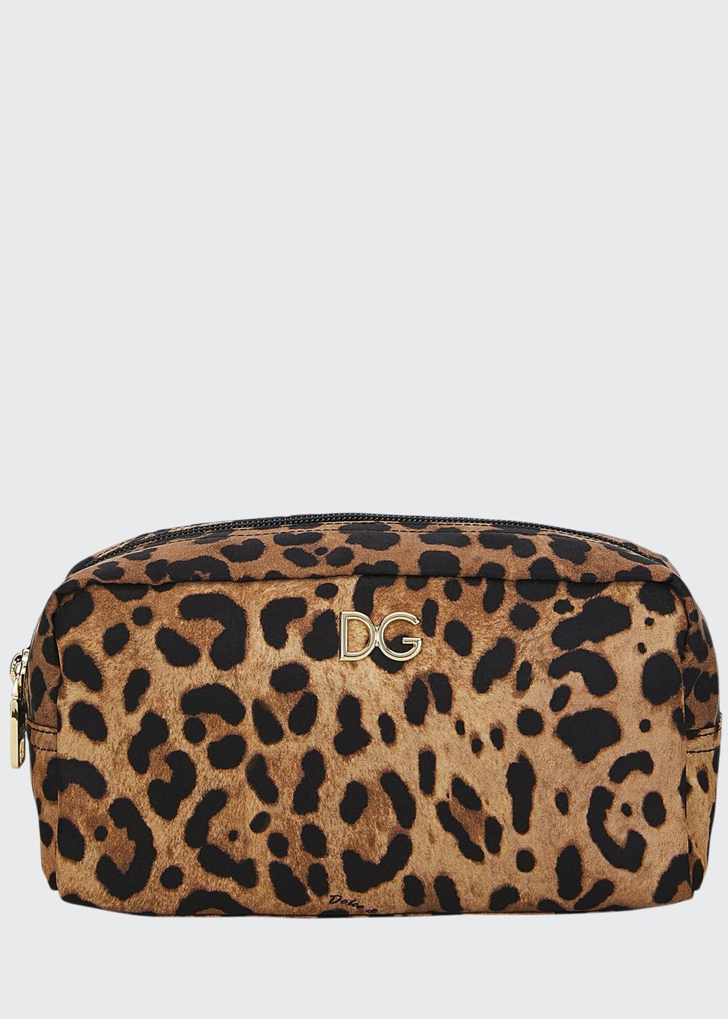 Dolce & Gabbana Leopard Nylon Cosmetics Pouch Bag