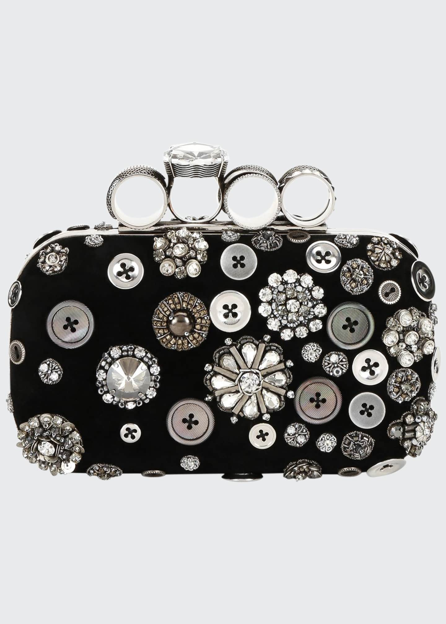 Alexander McQueen Allover Button-Embellished Clutch Bag
