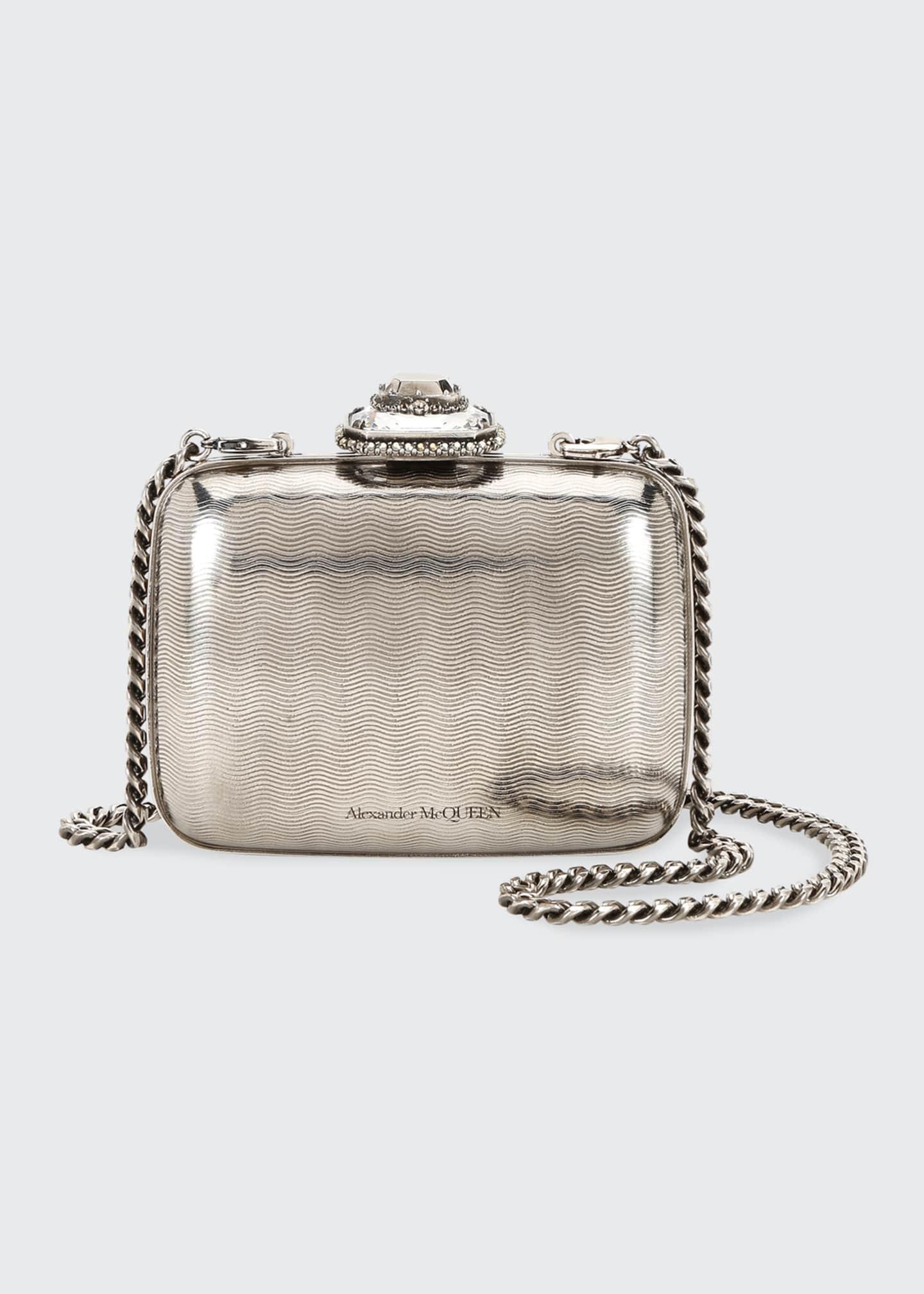 Alexander McQueen Metal Jeweled Clutch Bag
