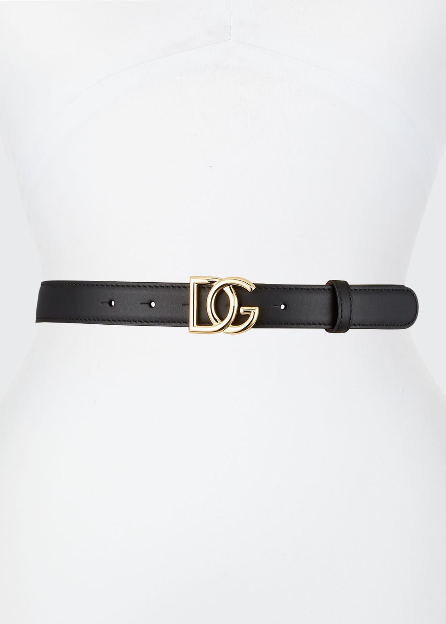 Image 1 of 1: Leather Belt w/ DG Buckle