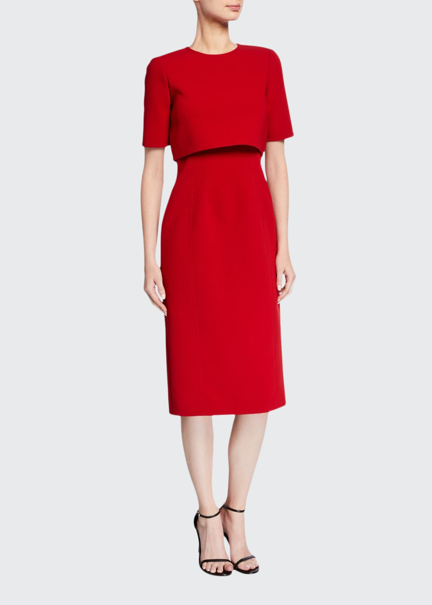 Jason Wu Collection Double-Face Compact Crepe Popover Dress