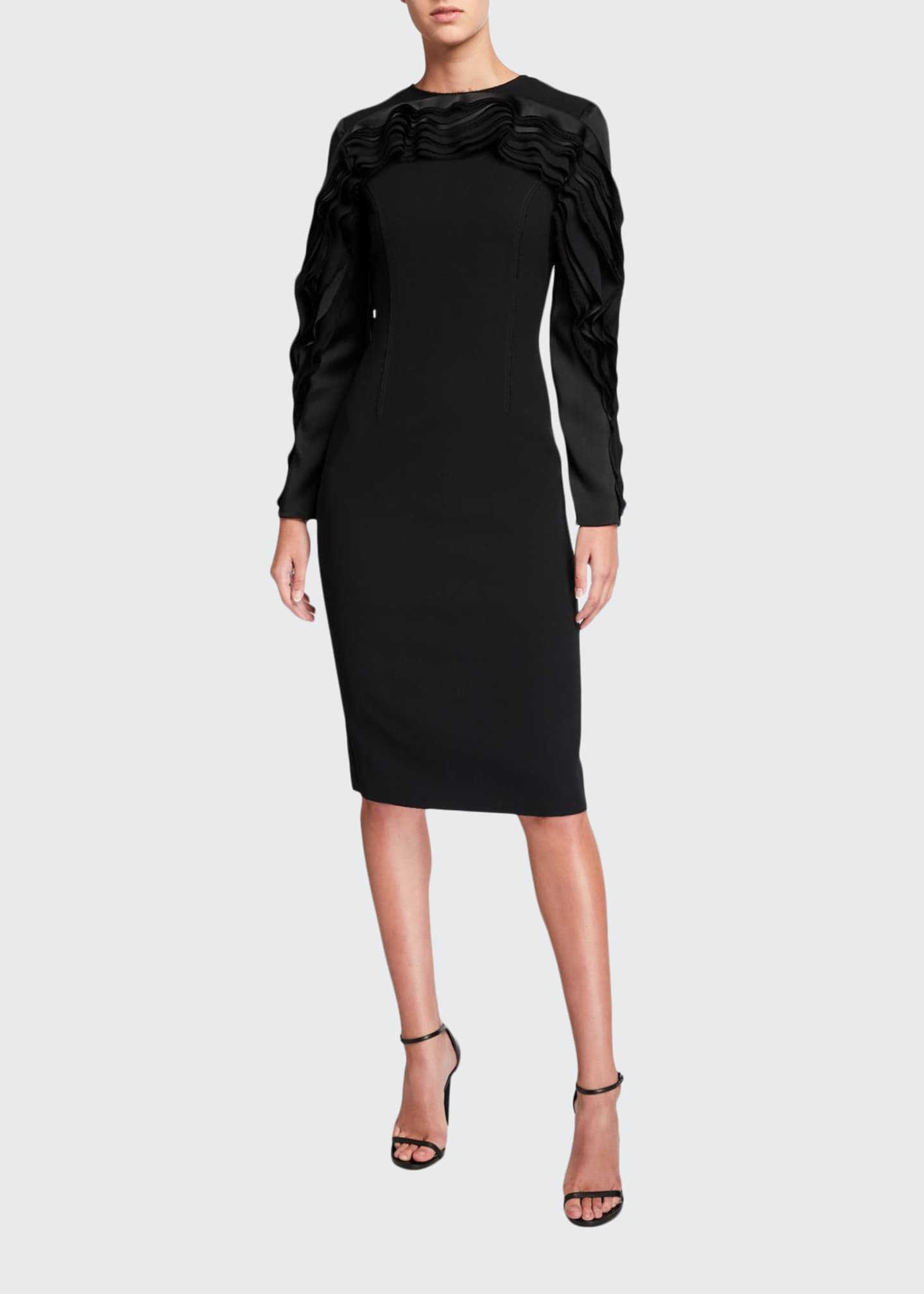 Jason Wu Collection Compact Crepe Raglan-Sleeve Dress