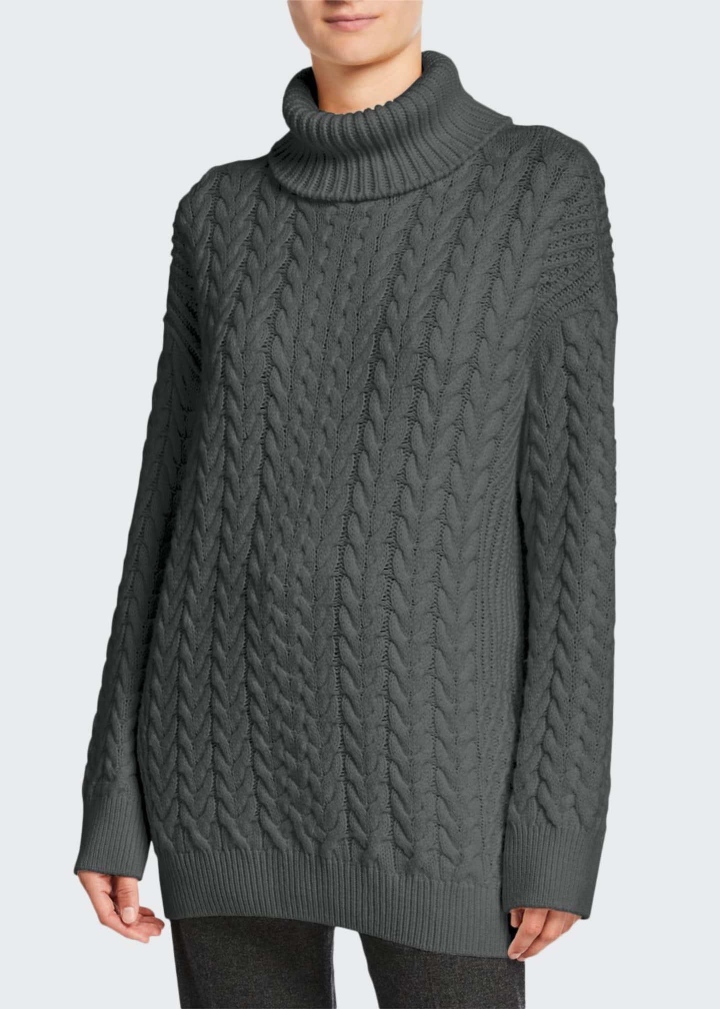 Loro Piana Oversized Cable-Knit Turtleneck Sweater