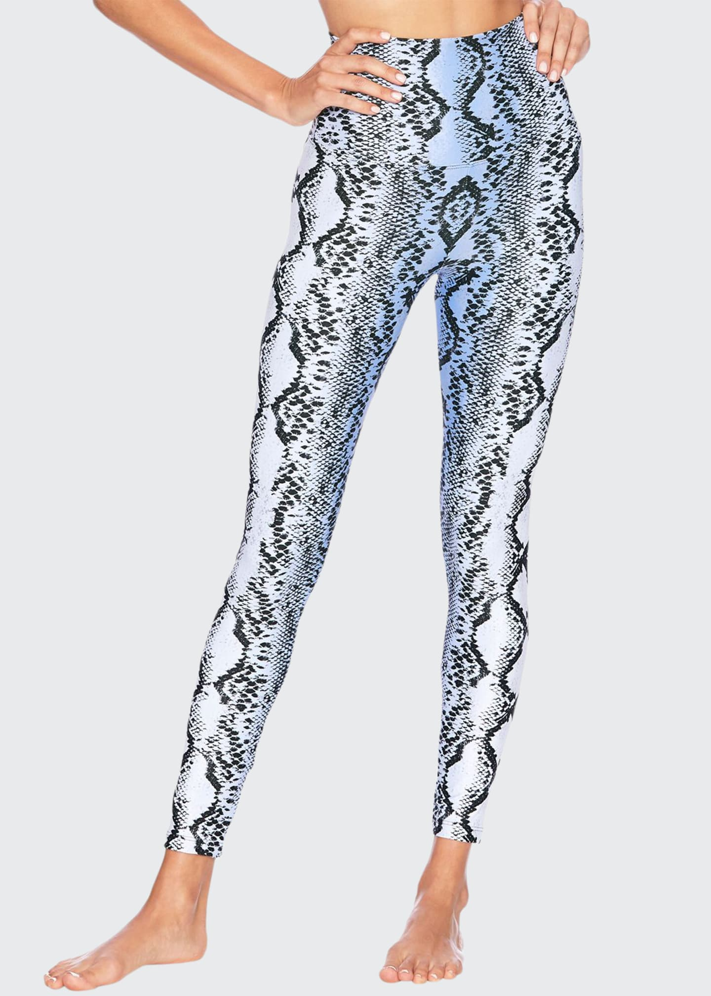 Beach Riot Snake-Print High-Rise Leggings