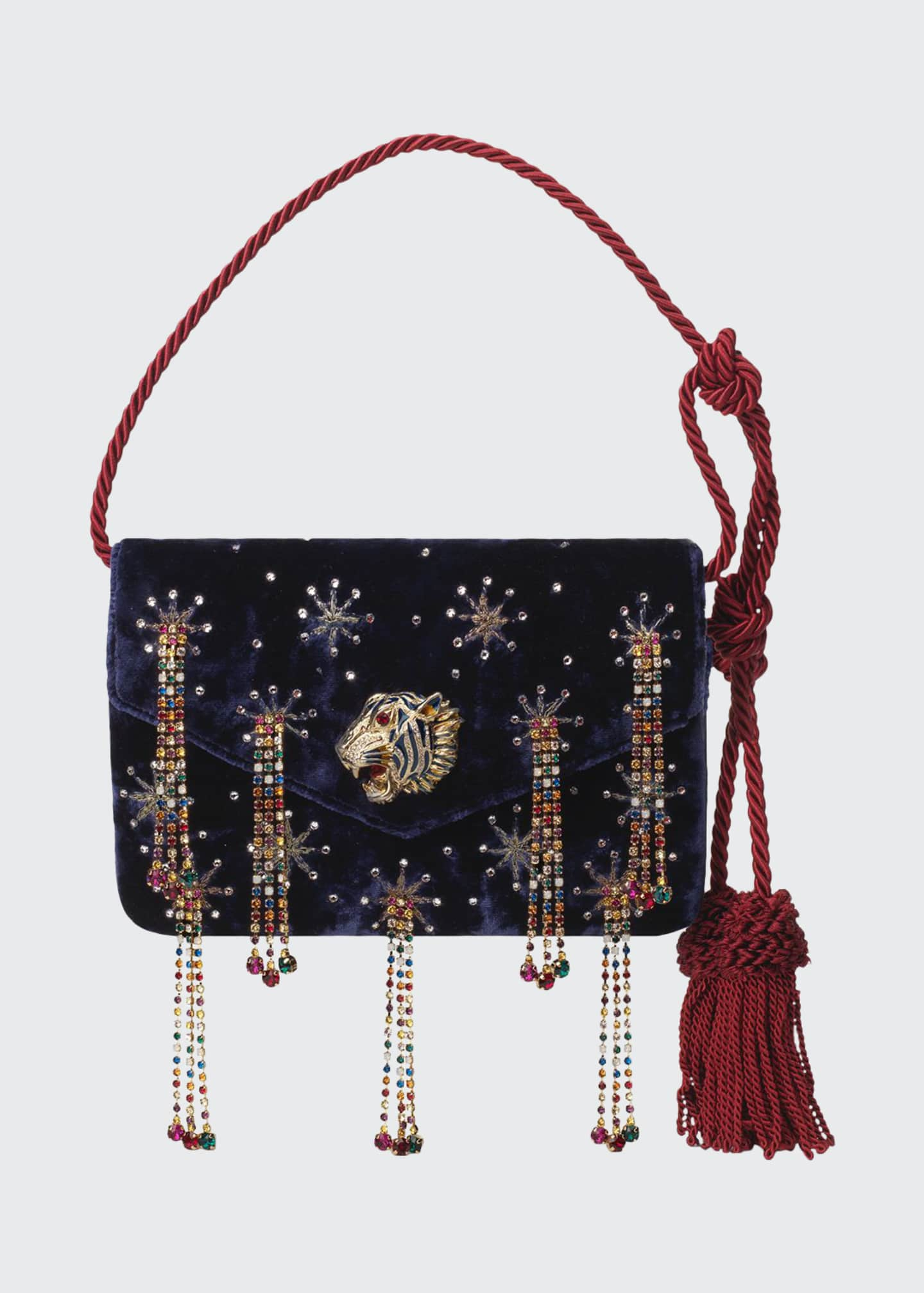 Gucci Broadway Rajah-Flap Evening Shoulder Bag