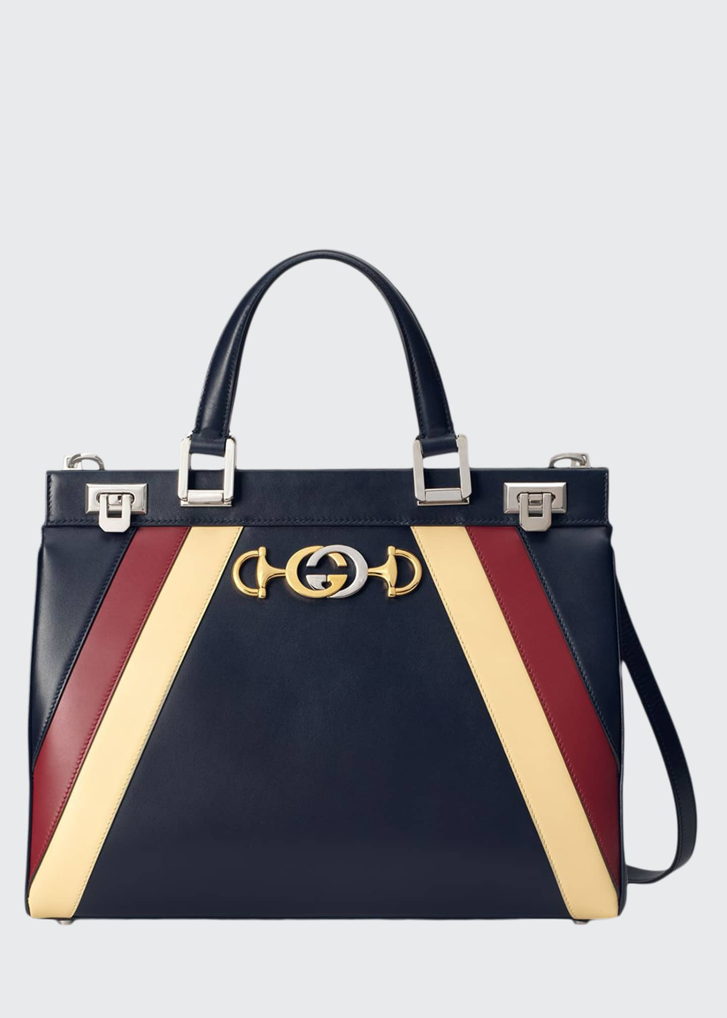 Gucci Medium Zumi Stripe Top Handle Bag