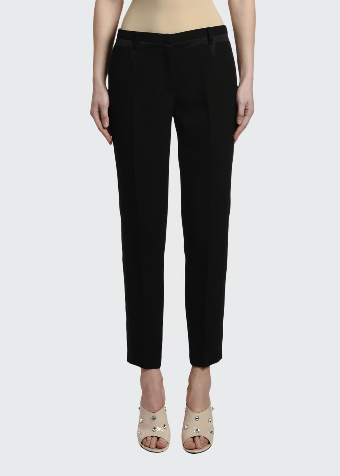 Image 1 of 3: Mid-Rise Straight-Leg Ankle Pants