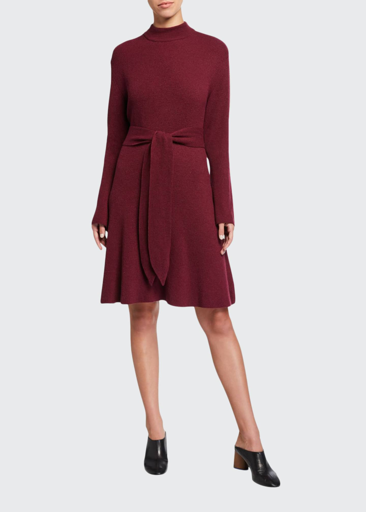 Nanushka Abhaya Tie-Waist Knit Sweater Dress