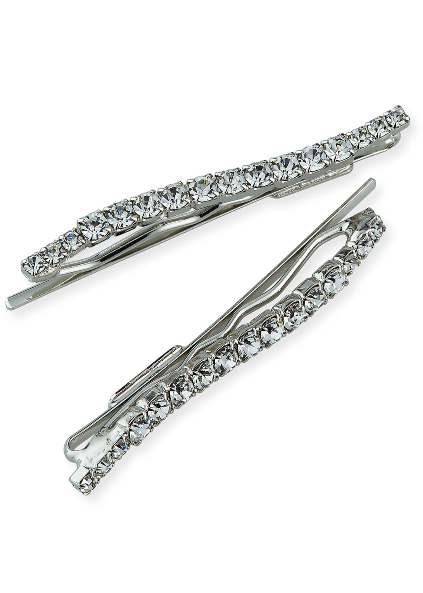 Epona Valley Wavy Swarovski Crystal Bobby Pins, Set