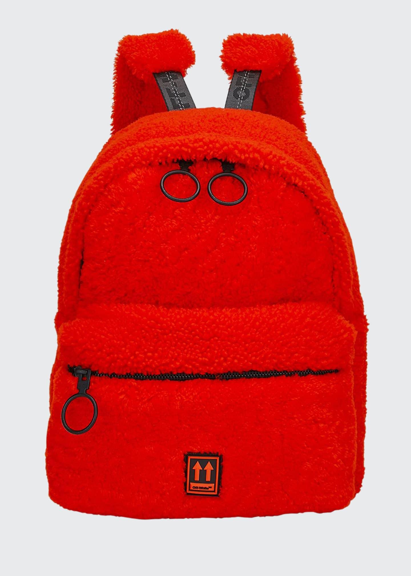 Off-White Men's Lamb-Shearling Mini Backpack