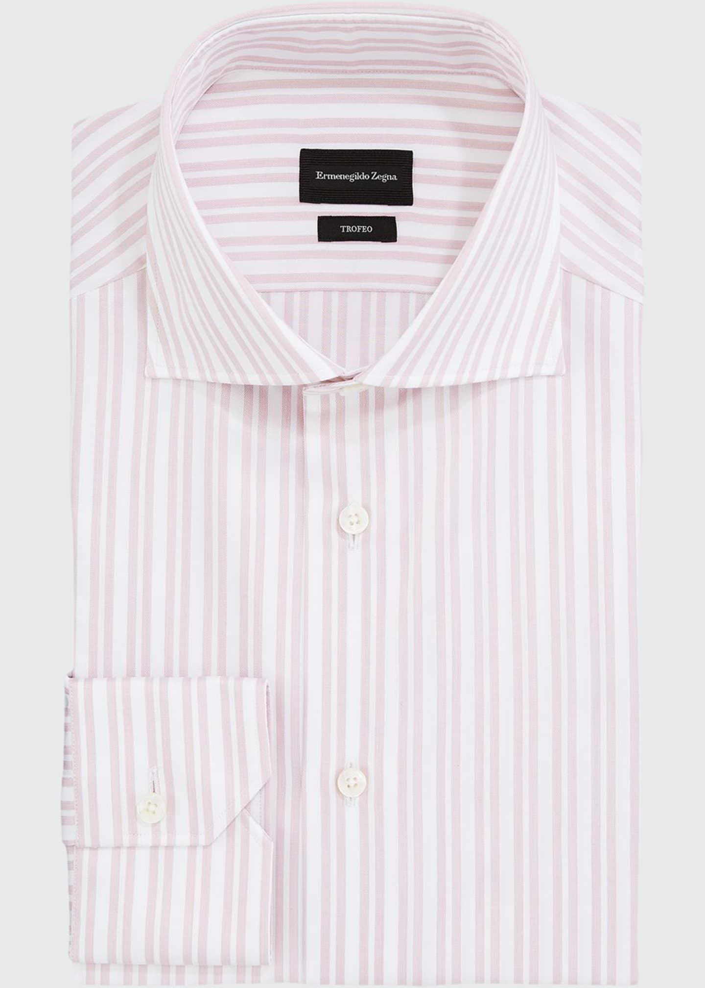 Image 1 of 2: Men's Trofeo Double-Stripe Trim-Fit Dress Shirt
