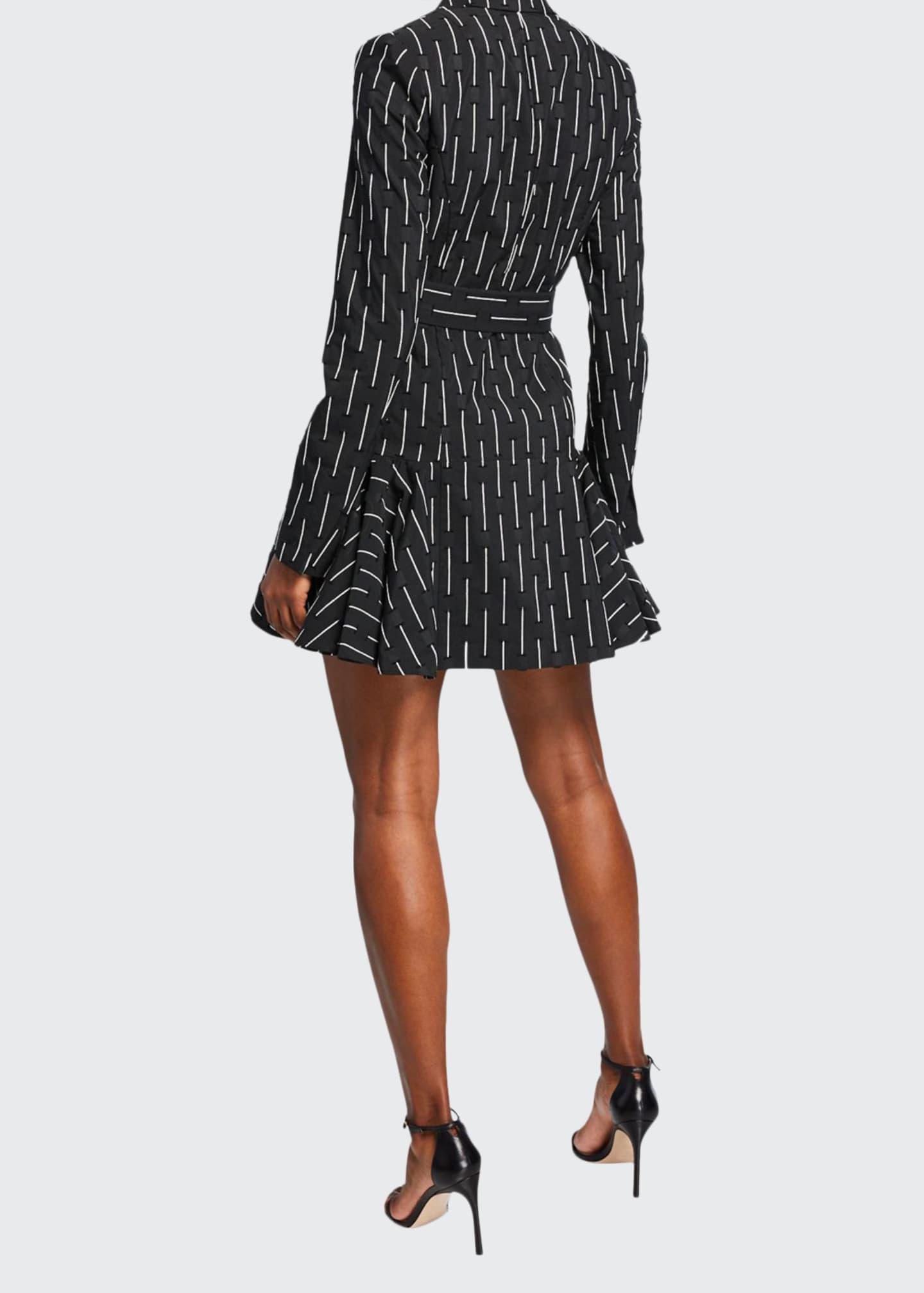 Alexis Kaedan Striped A-Line Belted Mini Dress