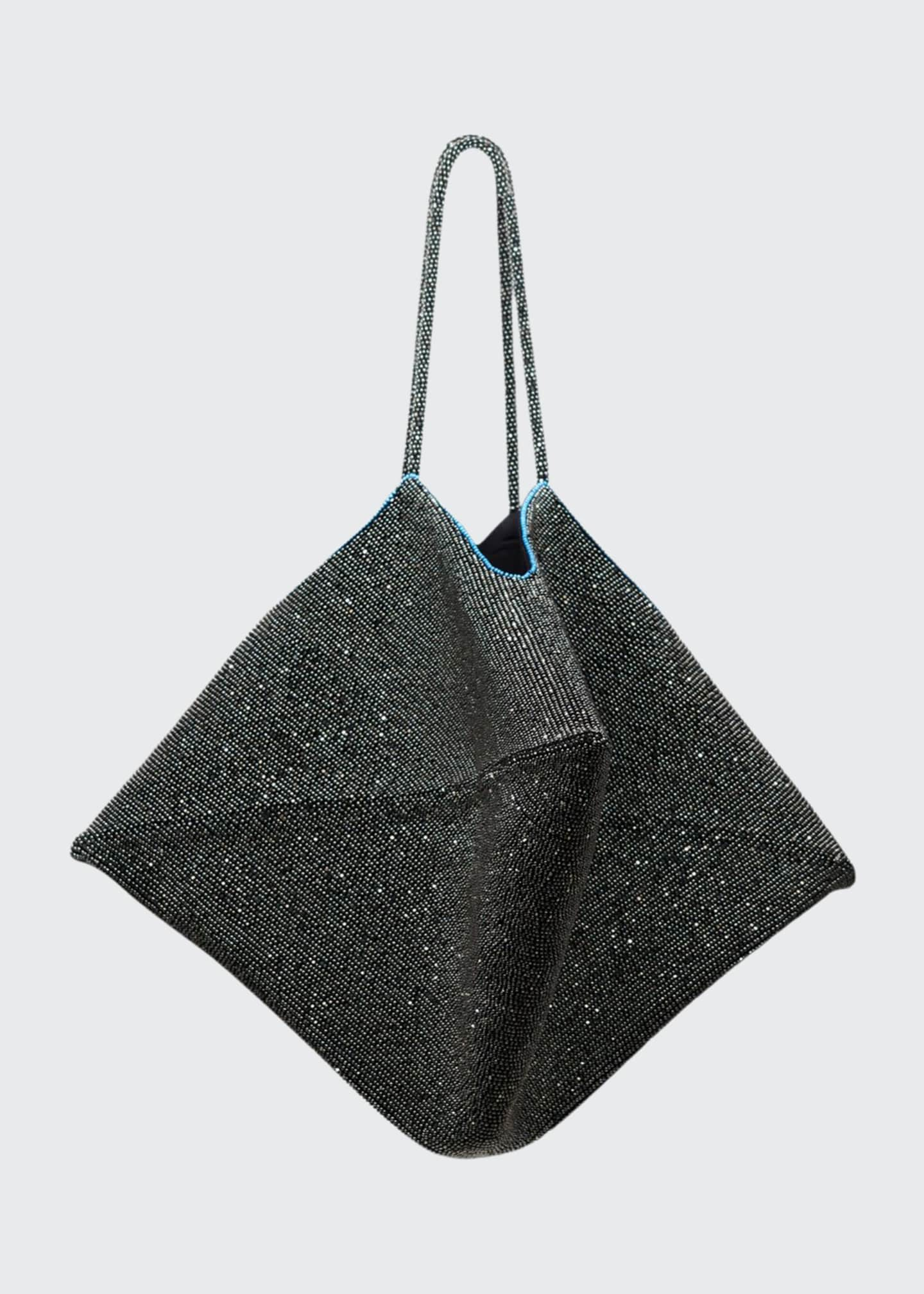 THE ROW Flat Bag in Embroidered Silk