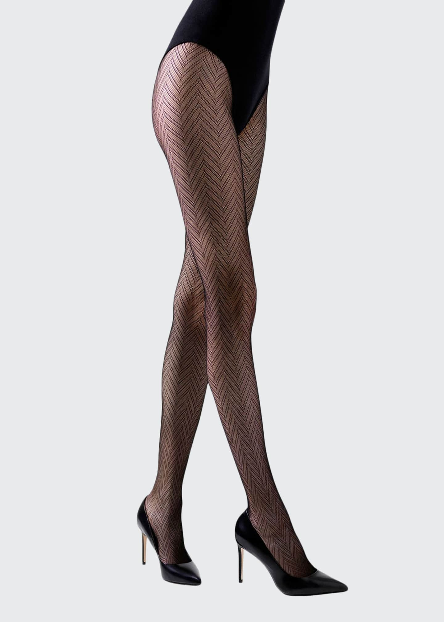 Natori 2-Pack Herringbone Net & Shimmer Sheer Tights