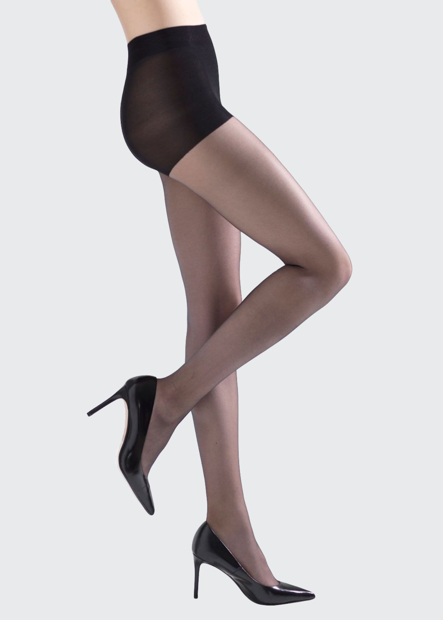 Natori 2-Pack Soft Suede Ultra Sheer Control-Top Tights