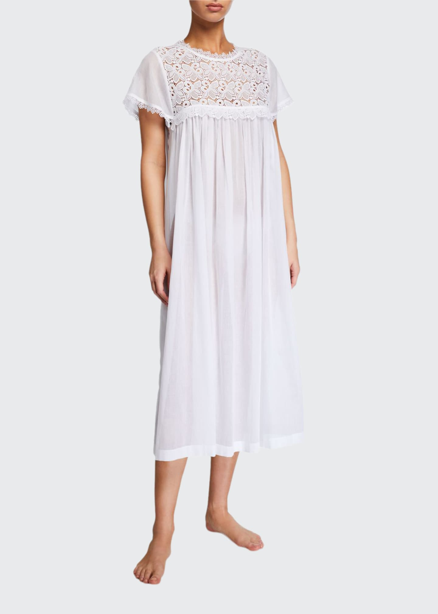 Celestine Valerie Lace-Yoke Nightgown