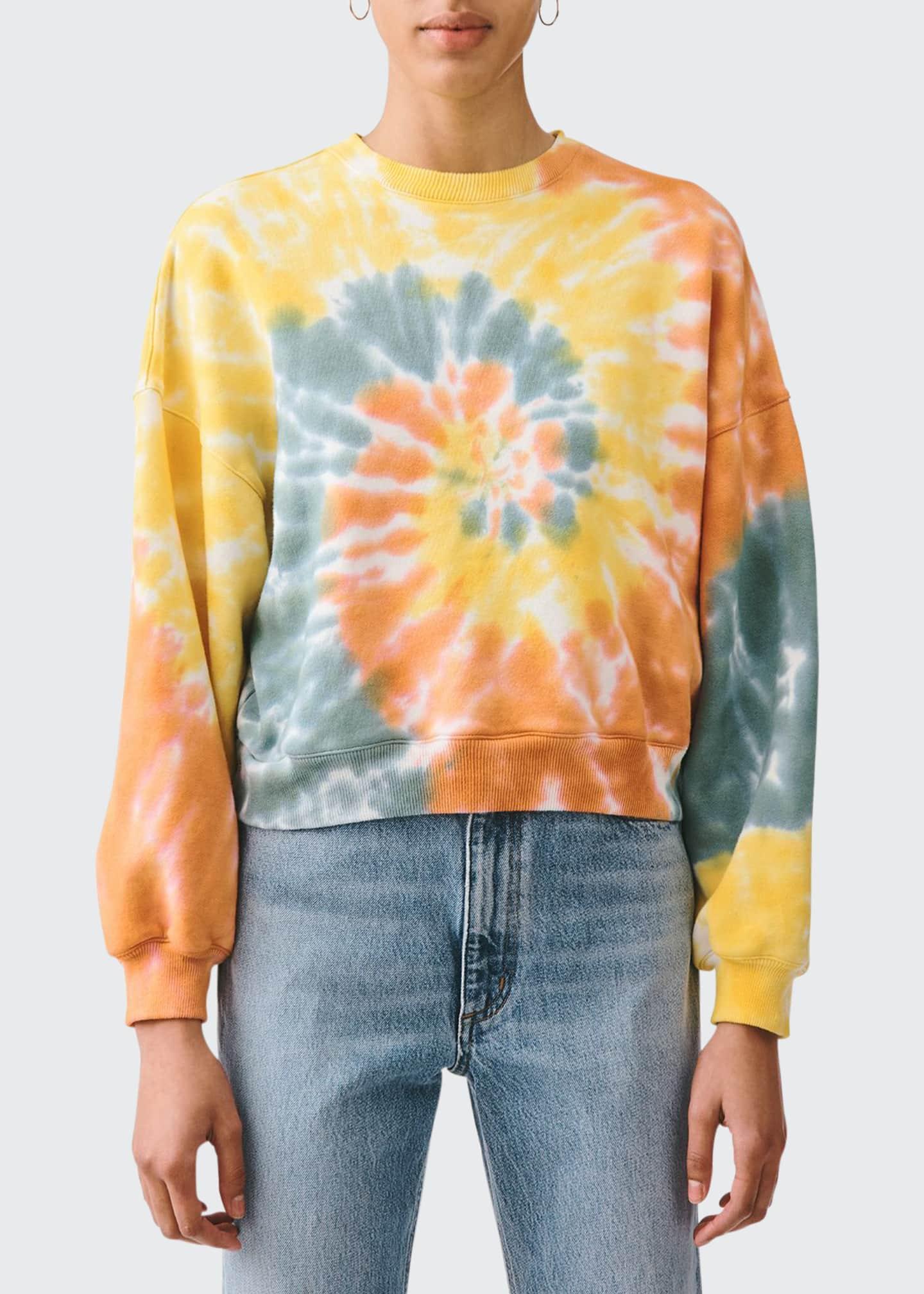 AGOLDE Balloon-Sleeve Tie-Dye Sweatshirt