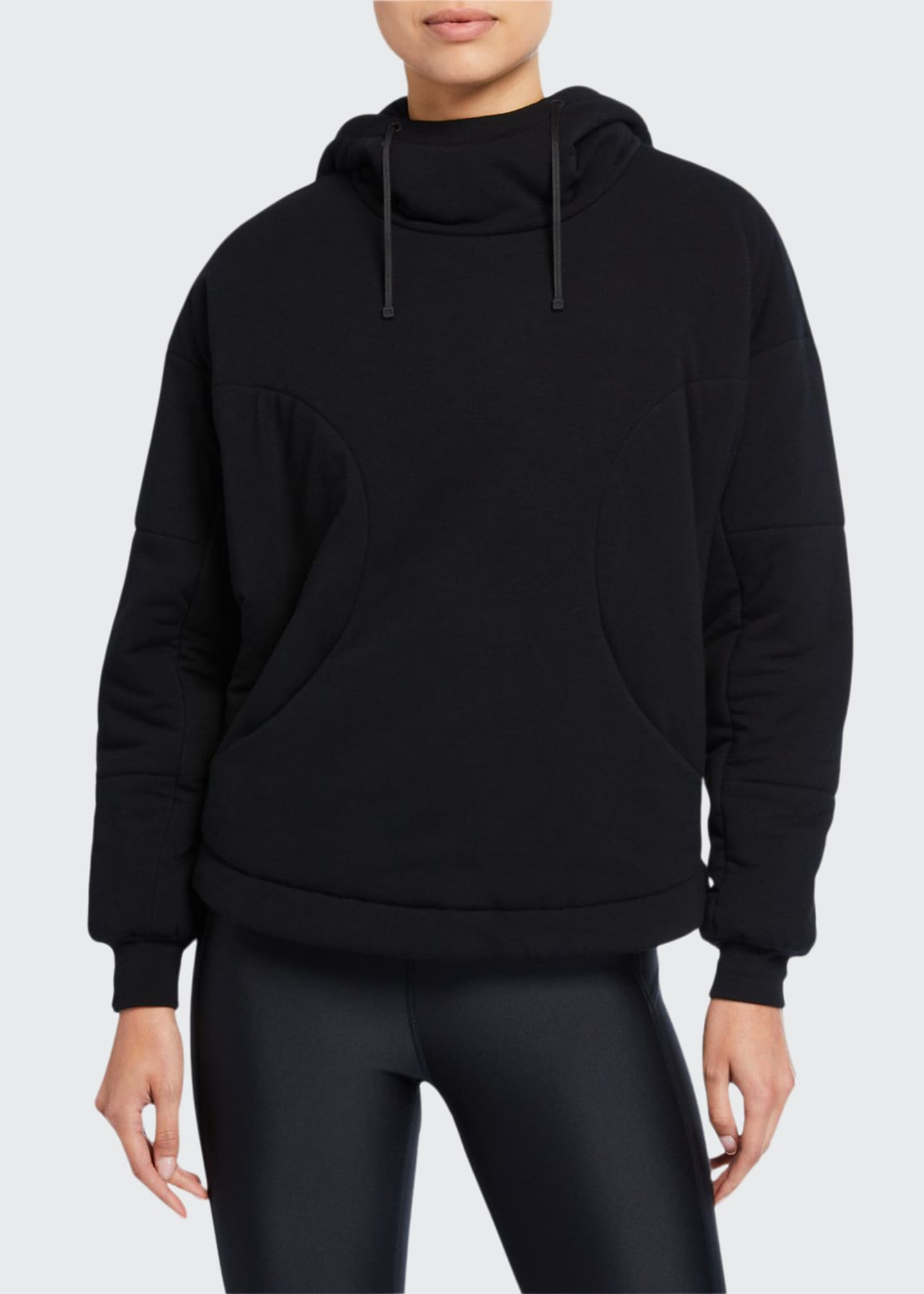 Image 1 of 2: Thin Down Pullover Hoodie