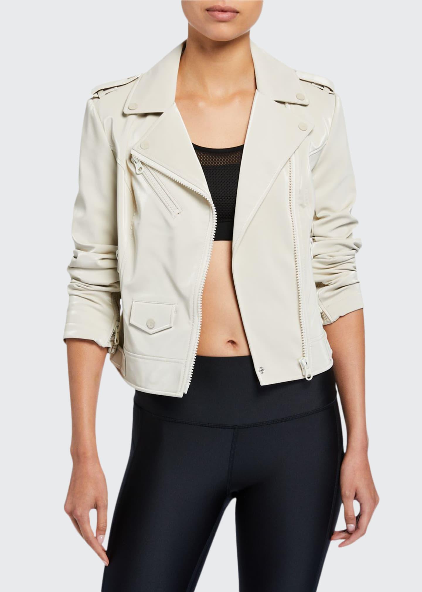 Blanc Noir City Classic Moto Jacket
