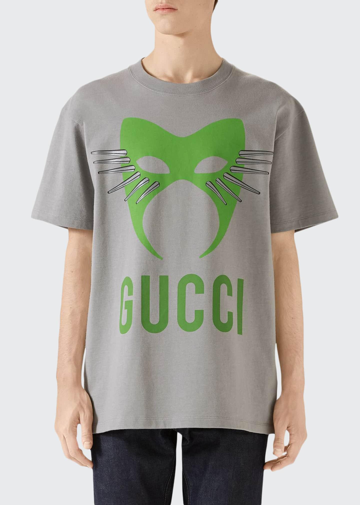 Gucci Men's Capsule Mask Heavy Cotton T-Shirt