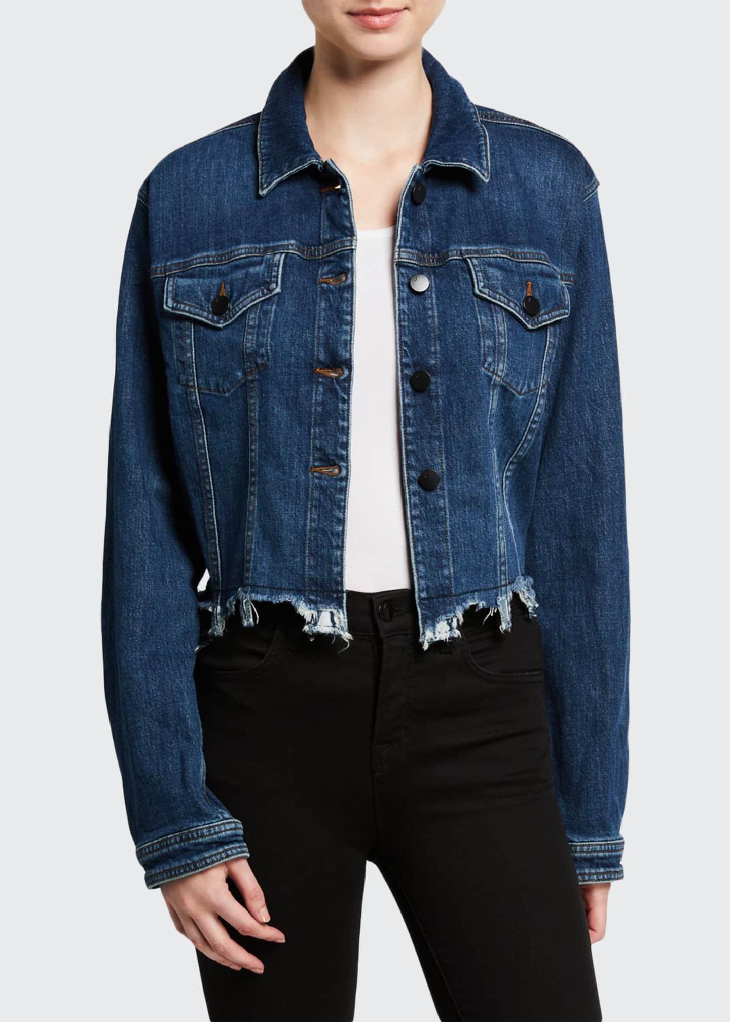 J Brand Cyra Cropped Denim Jacket