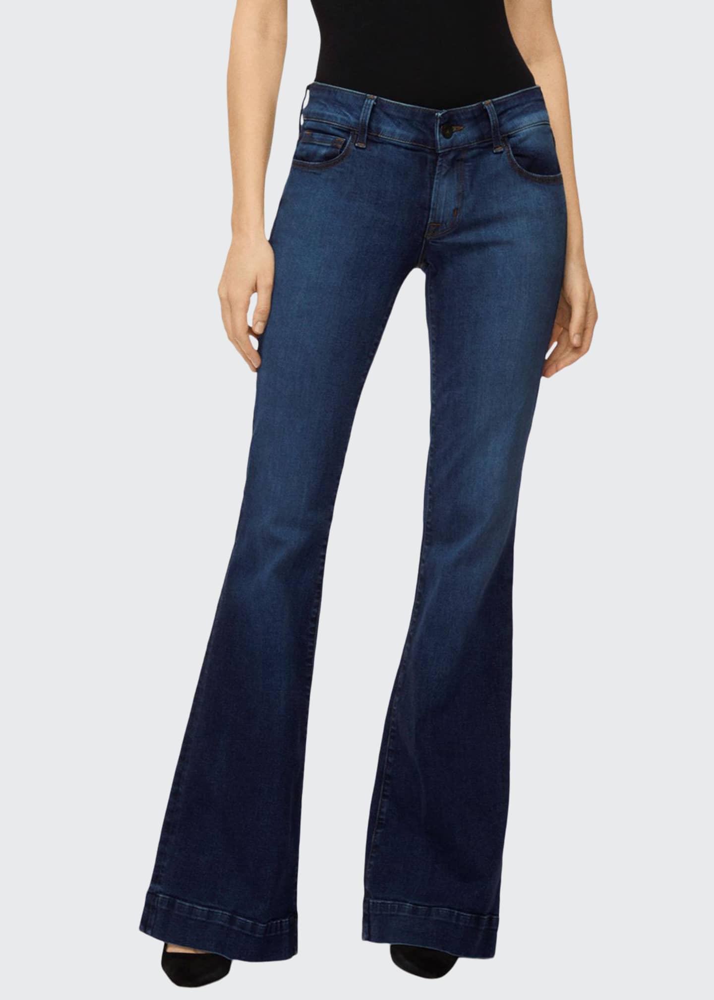 J Brand Loverstory Mid-Rise Flare-Leg Jeans
